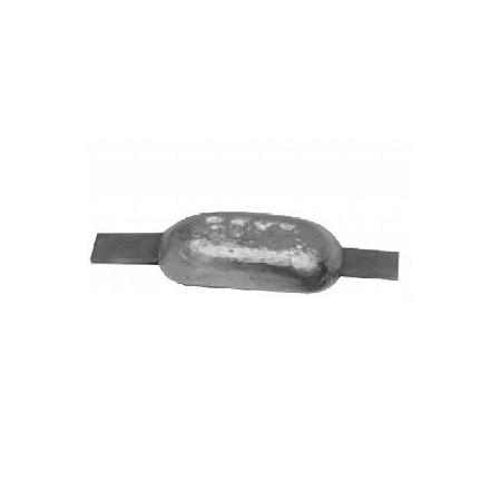 Aluminium anode 0,6 kg met strip