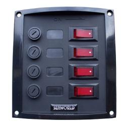Schakelpaneel 3 delig met voltmeter 10036